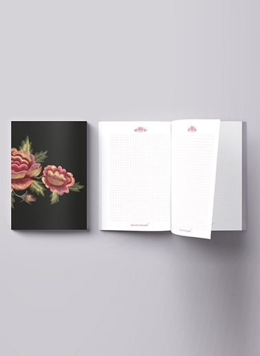 LWP Shop Alnwick Rose Notebook Renkli